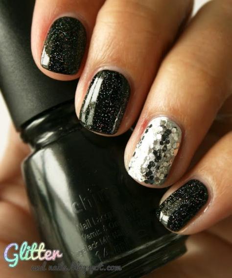 Дизайн ногтей фото чёрный