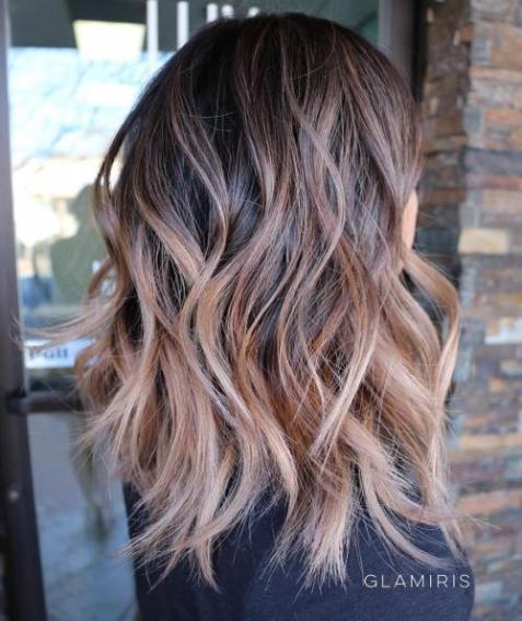 Прическа шэг на длинные волосы