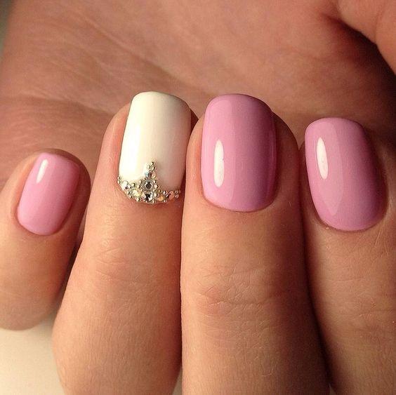 Дизайн ногтей с розовым цветом фото