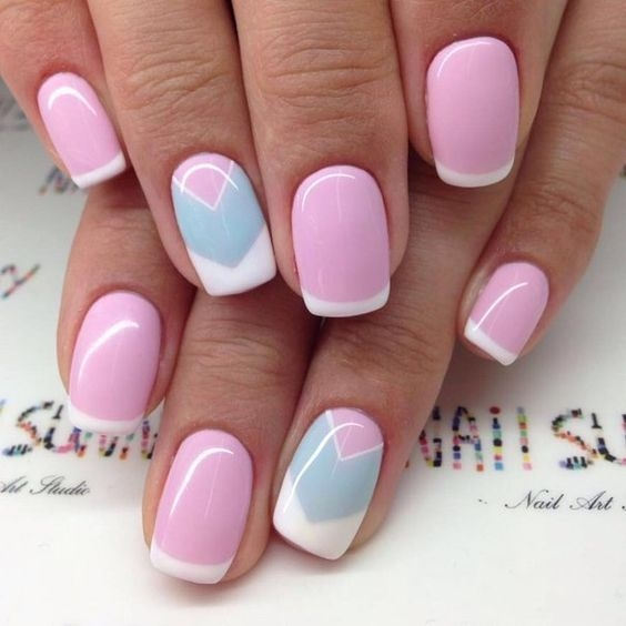 Дизайн ногтей цвет розовый