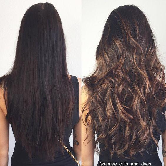 Балаяж для тёмных волос