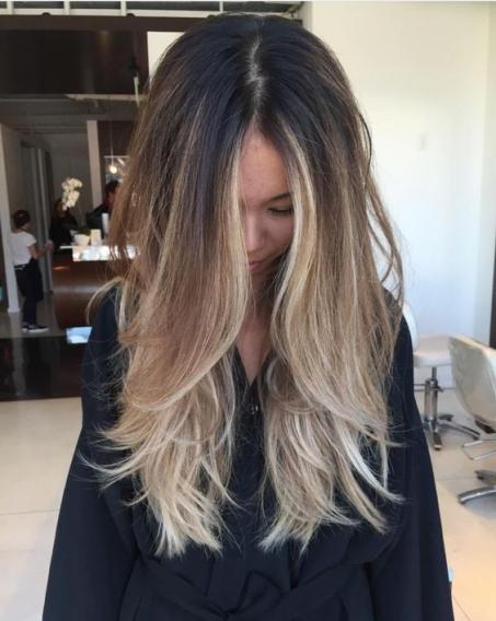 что такое балаяж волос фото