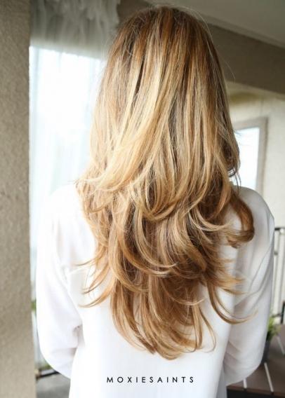 стрижки каскад на длинные волосы