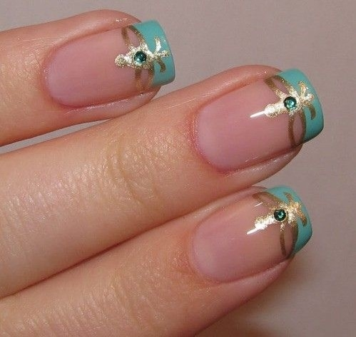 фото дизайн ногтей френч с рисунком