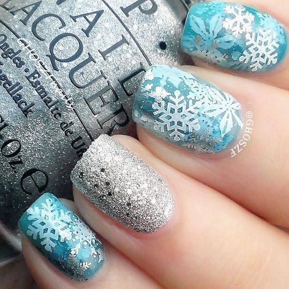 Дизайн ногтей фото новинки снежинки