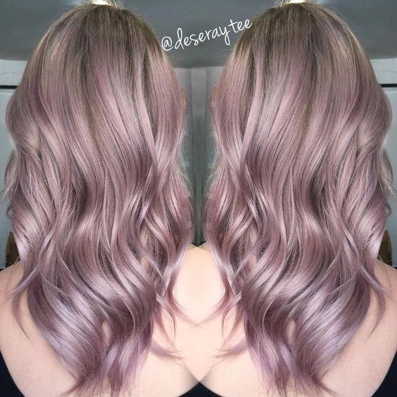 Цвет металлик фото волос