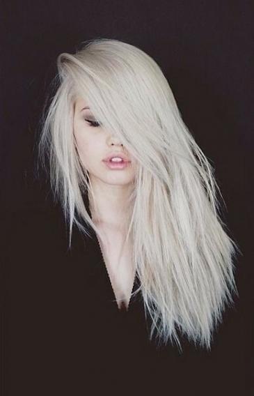 Платиновый оттенок волос фото