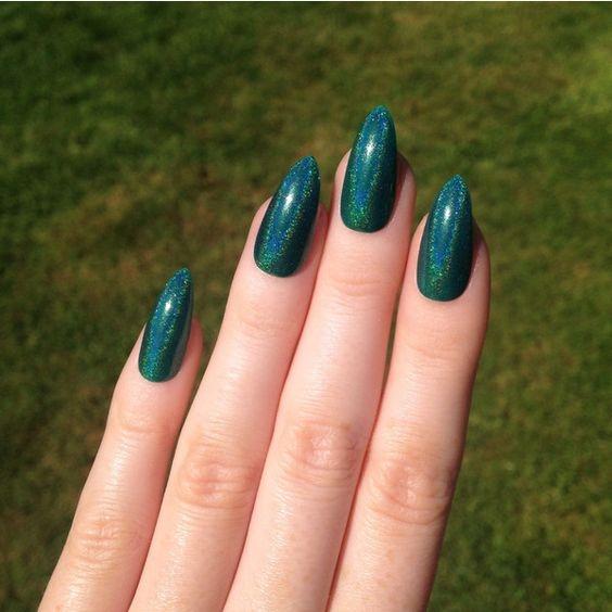 Как сделать зеленый лак для ногтей