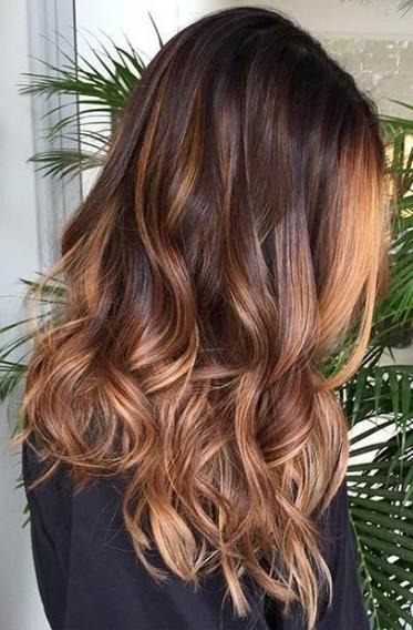Современное окрашивание темных волос