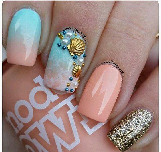 Морская тематика ногтей фото