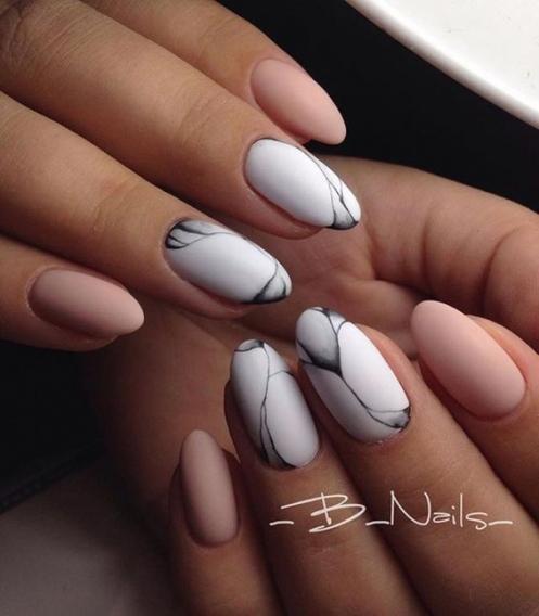 Фото маникюр на ногти средней длины