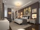 Дизайн штор для спальни в разных стилях (классика, лофт, модерн, прованс, хай-тек). ФОТО 50+