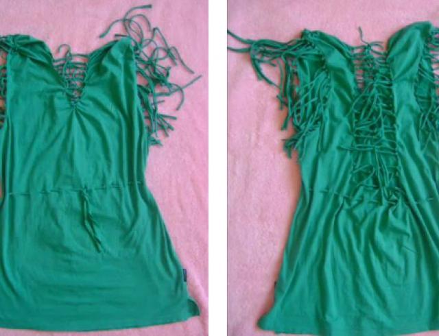 Как сделать платье из футболки и фатина