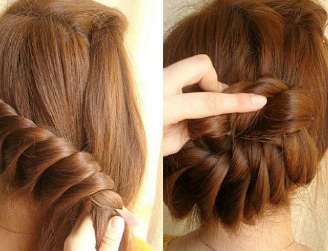 Как сделать корзинку из волос
