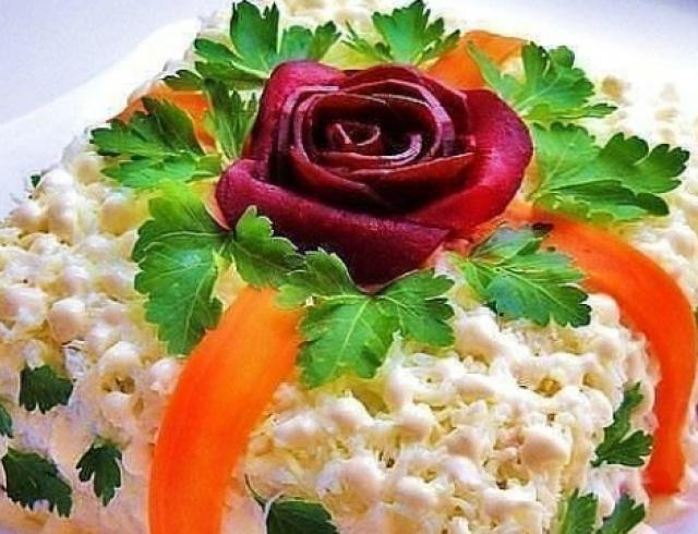 Рецепты с красивых и вкусных салатов