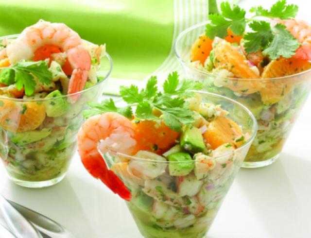 Салат из морепродуктов красивые рецепт