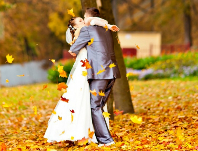 свадьба фото осенью