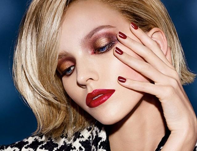 Саша Лусс в промокампании линейки Dior Beauty осень-зима 2014/2015