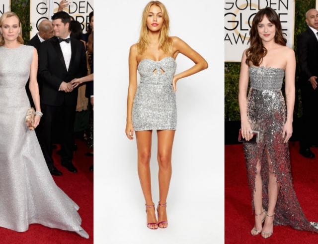c103897d08e Тренд вечерней моды – серебряное платье  как одеться на выпускной 2015
