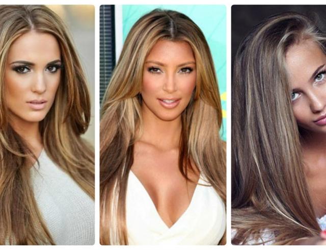 Окрашивание волос блики в 2019 году