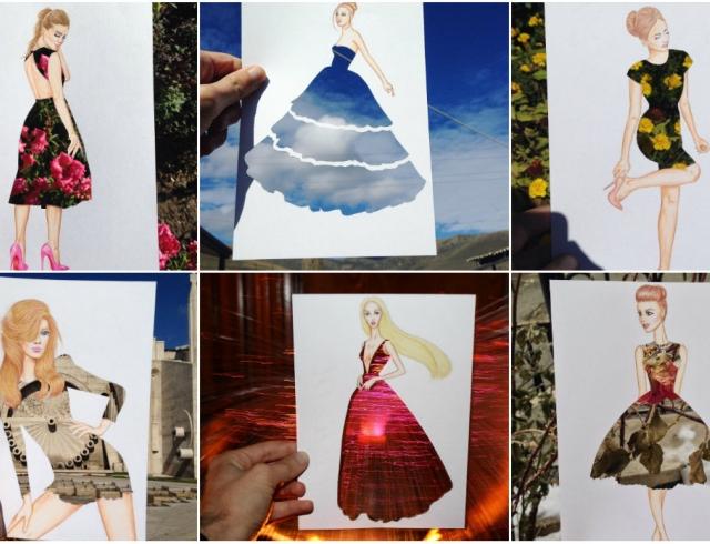 Платье, сотканное из природы  фэшн-иллюстратор создает невероятные эскизы  одежды f33059fd012
