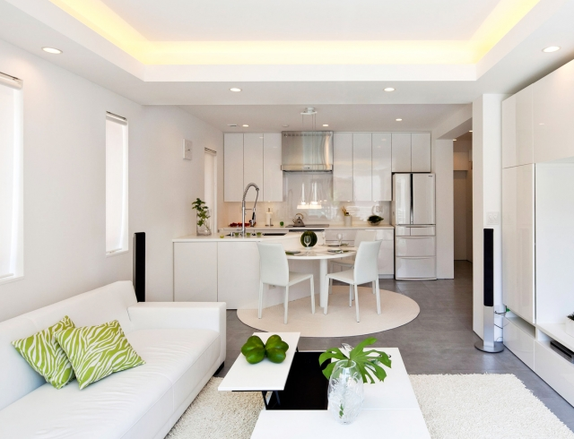 Дизайн кухни и гостиной вместе в квартире фото