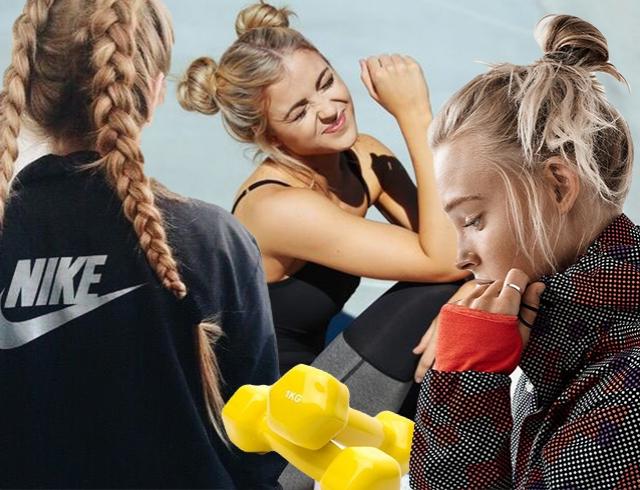 Прически на тренировку на длинные волосы