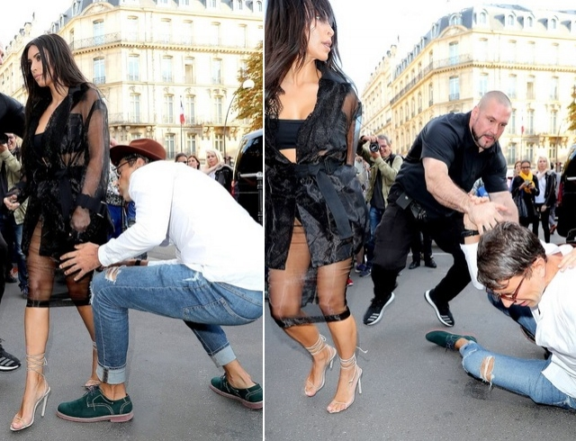 Украинский пранкер поцеловал попу Ким Кардашьян