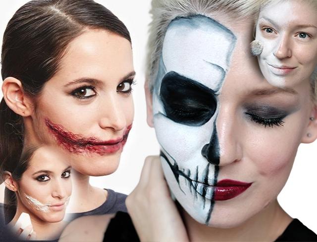 С чего сделать грим на хэллоуин в домашних условиях