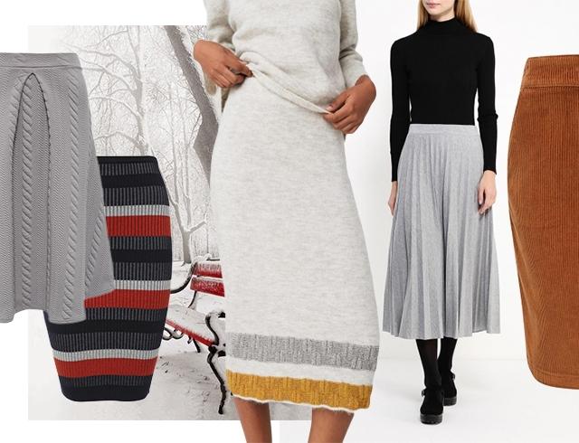 модные теплые юбки на зиму 2016 2017 какие выбрать и под что носить