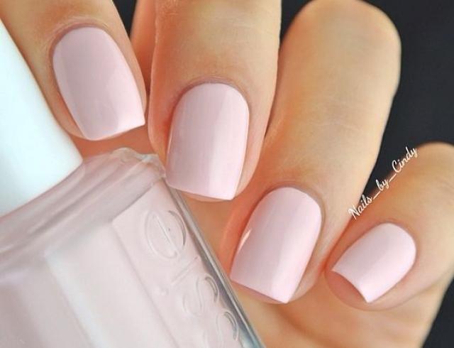 нежно-розовый дизайн ногтей фото