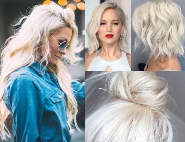 Окрашивание волос платиновый блонд