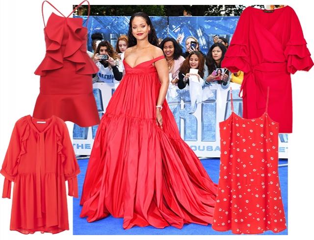 45fd72c985ee05b Рианна в Giambattista Valli Couture: красное платье - главный ...