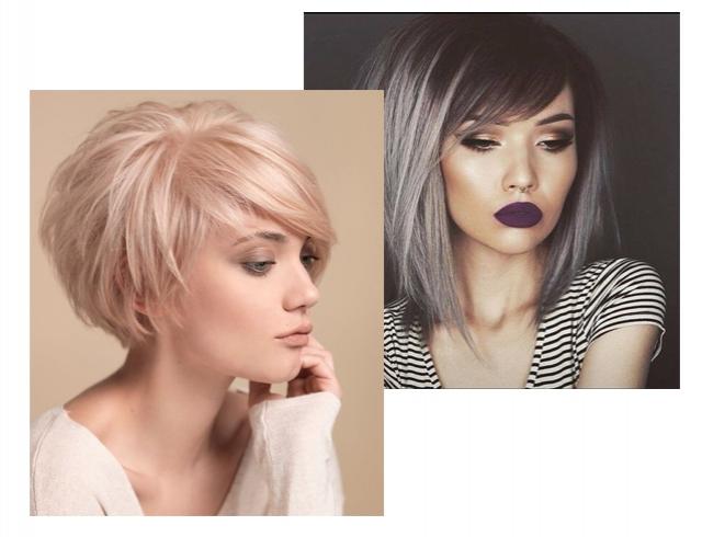 прически на короткие волосы с челкой с фото