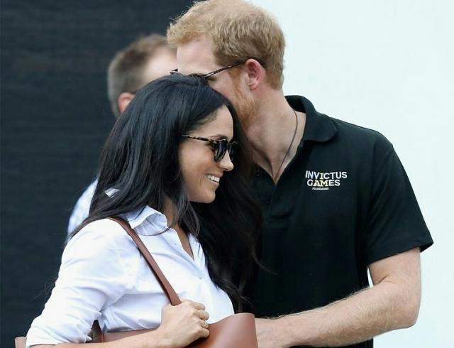 Принц Гарри показался напублике сосвоей невестой