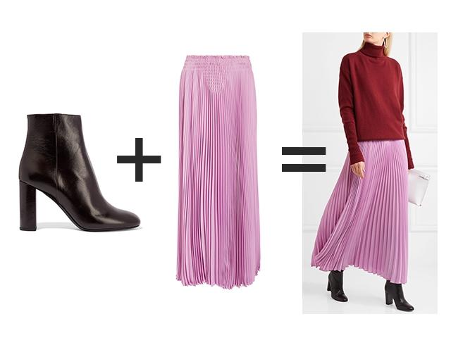 Как правильно носить юбку с сапогами, ботильонами и ботинками изоражения