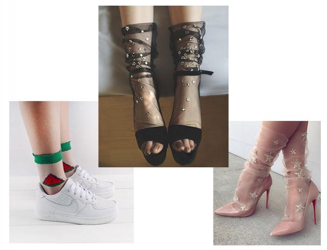 a2241e54cca1b Очень нежно: как носить и сочетать прозрачные носки с узором