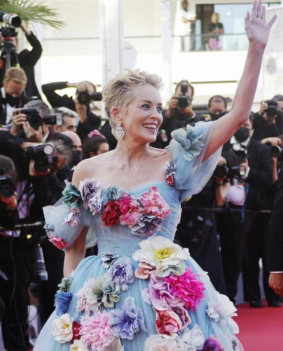 Шэрон Стоун в сказочном платье с цветами произвела фурор на Каннском кинофестивале (ФОТО) - фото №5