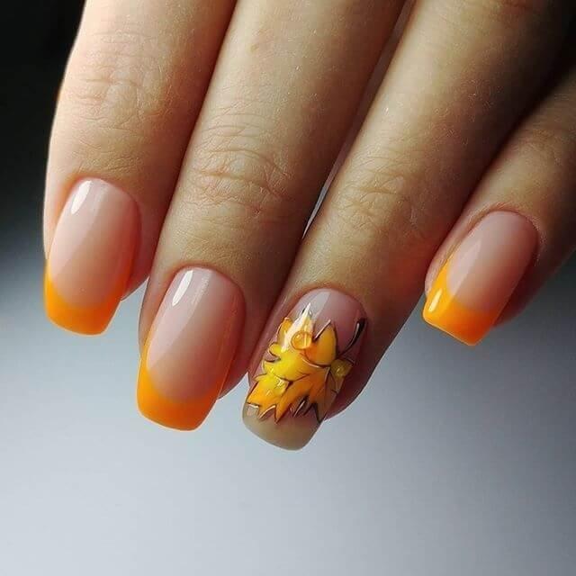 Маникюр с рисунками осенних листьев: лучшие варианты дизайна ногтей - фото №5