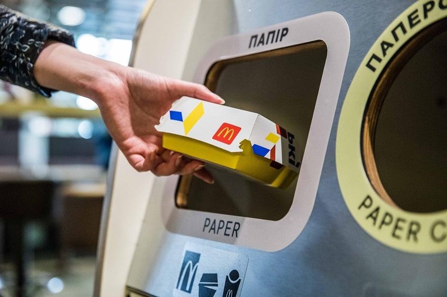 МакДональдз в Украине запускает проект сортировки и переработки отходов из залов ресторанов - фото №2