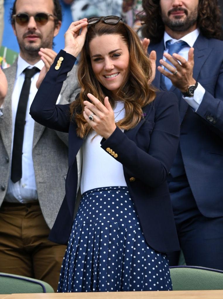 Кейт Миддлтон посетила Уимблдонский теннисный турнир (ФОТО) - фото №2