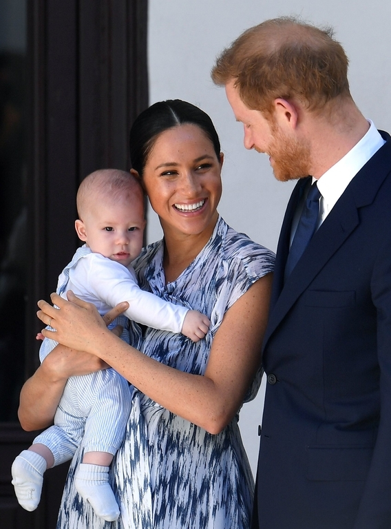 Принц Гарри, Меган Маркл и их сын Арчи фото