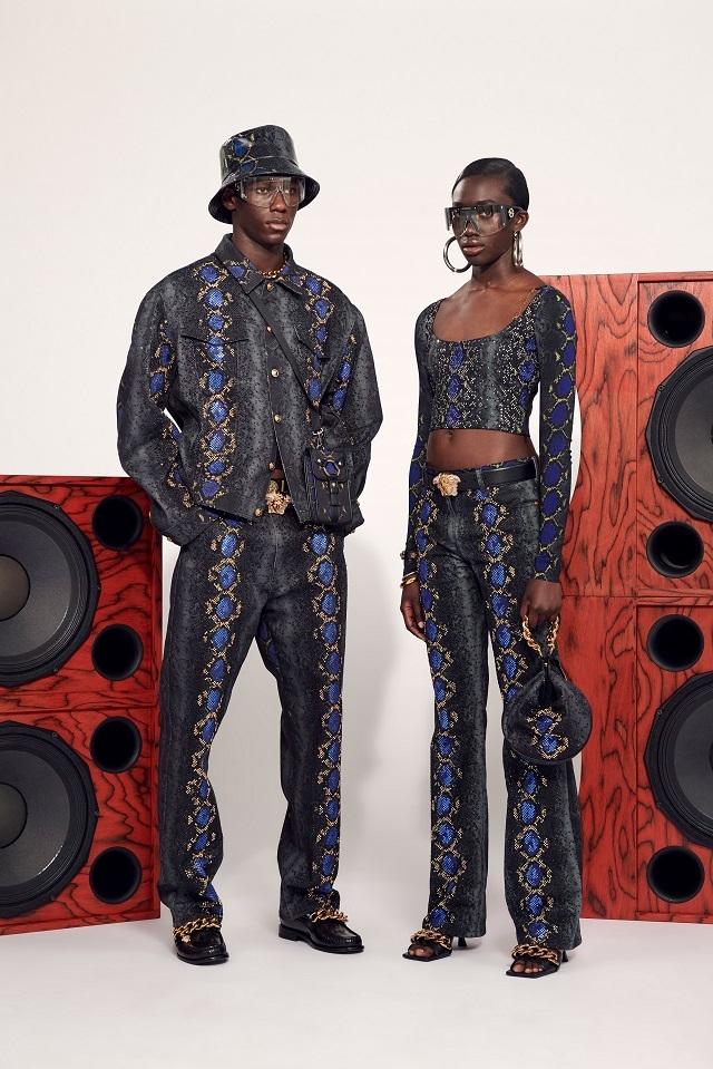 Брюки с низкой посадкой и змеиный принт: Versace представили новую круизную коллекцию (ФОТО) - фото №2