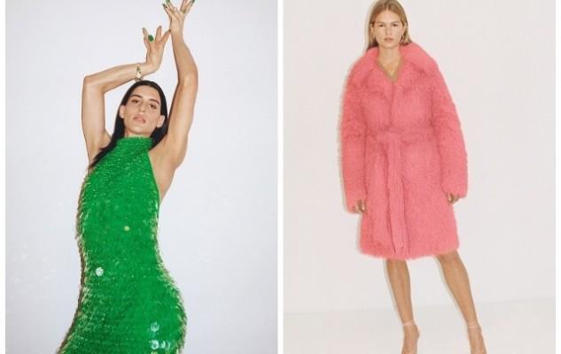 Блестящие платья, яркие шубы и много зеленого цвета в новой коллекции