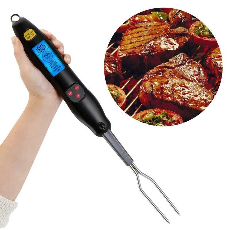 Вилка-термометр для барбекю