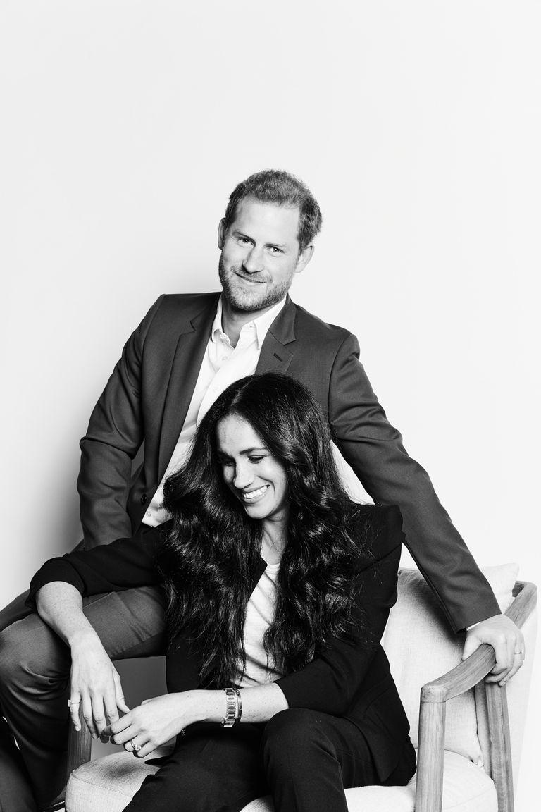 Меган Маркл и принц Гарри новый официальный портрет