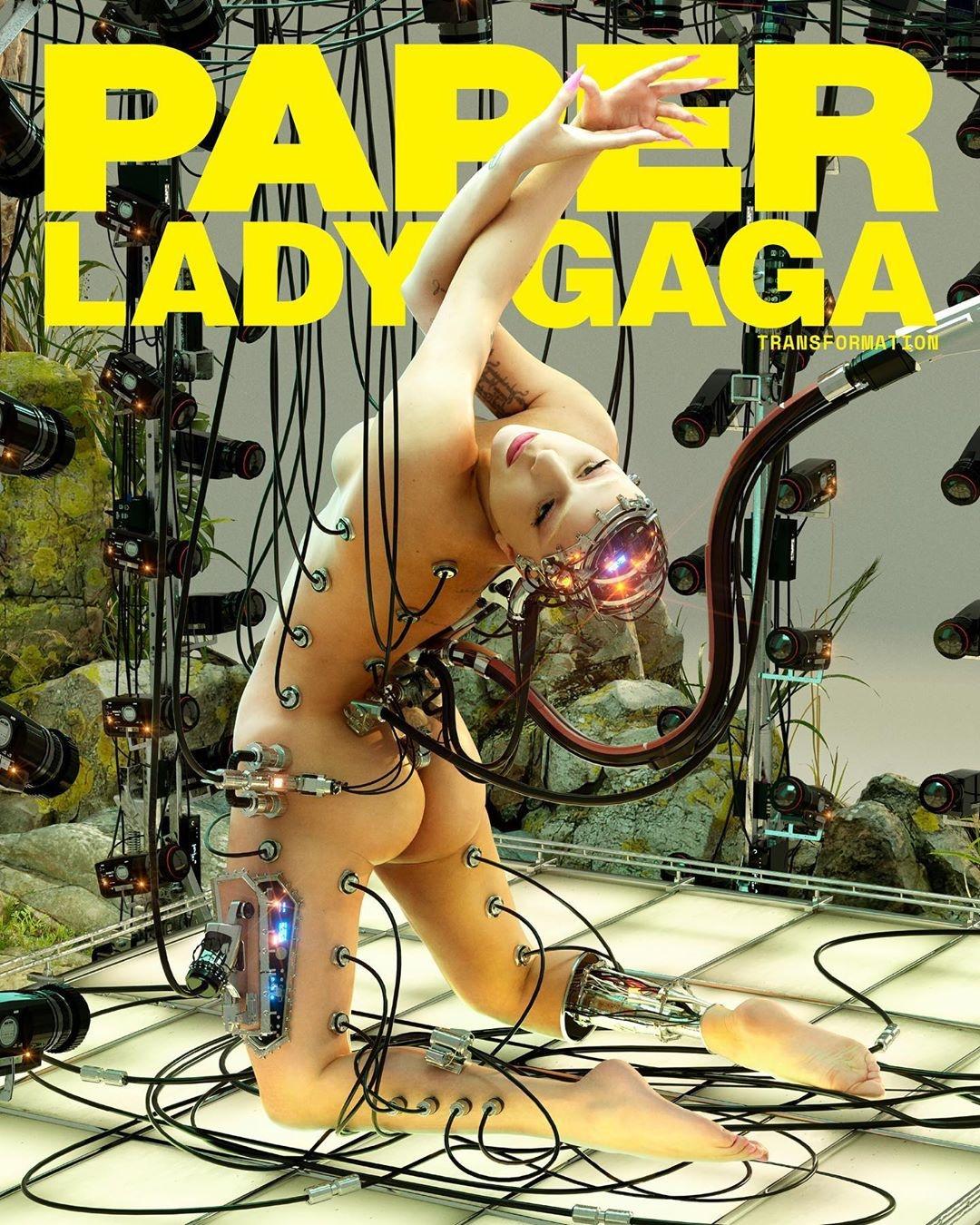Обнаженная Леди Гага в эпатажной фотосессии для Paper (ФОТО) - фото №1
