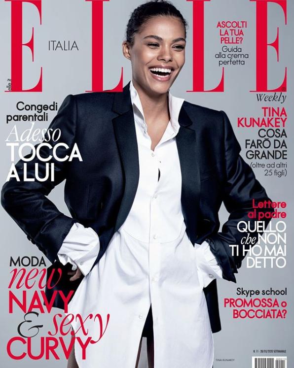 Очаровательная Тина Кунаки на обложке итальянского ELLE в мужском костюме (ФОТО) - фото №1