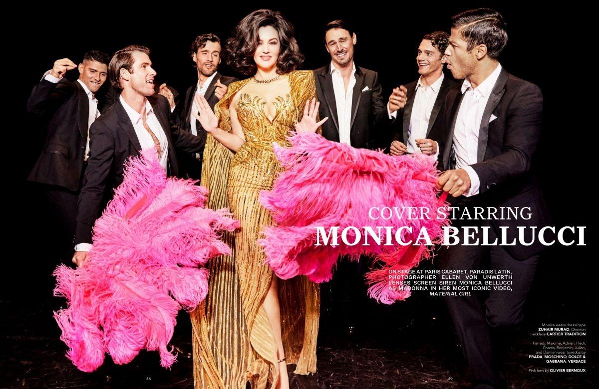Красивые мужчины, перья и бриллианты: Моника Беллуччи примерила образ кабаре-дивы из культового клипа Мадонны (ФОТО+ВИДЕО) - фото №4