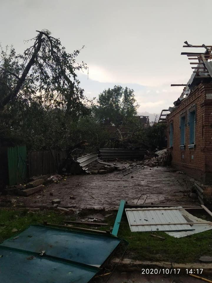 Ураган в Кропивницком 17 октября 2020